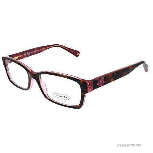 Coach Women's HC6040 Eyeglasses Tortoise/Pink 52mm