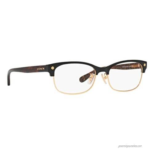Coach Women's HC6098 Eyeglasses Black Gold/Dark Tort Gold Sig 53mm