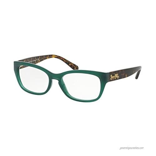 Coach Women's HC6104 Eyeglasses Teal/Dark Tort Gold Sig C 50mm