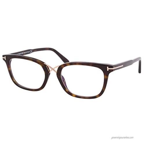 Eyeglasses Tom Ford FT 5637 -B 052 Shiny Classic Dark Havana  Rose Gold/Blue Bl