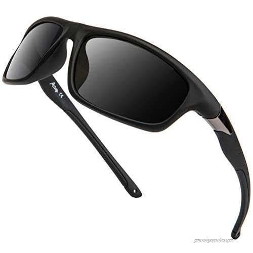 A LONG Polarized Sports Sunglasses For Men Driving Fishing Running Cycling Glasses 100% UV Protection