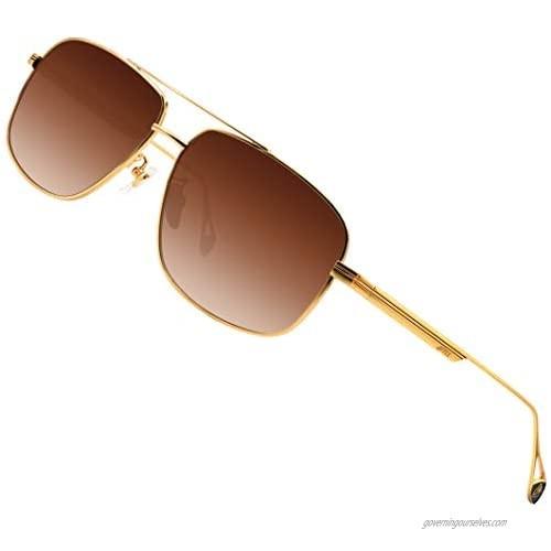 ATTCL Men's Fashion Driving Polarized Sunglasses UV Protection Metal Frame