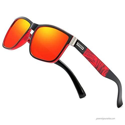 FRROS Vintage Polarized Sunglasses for Men and Women Driving Sun Glasses 100% UV Protection 518