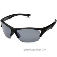 Ironman Men's Excursion Wrap Sunglasses  Black  63 mm