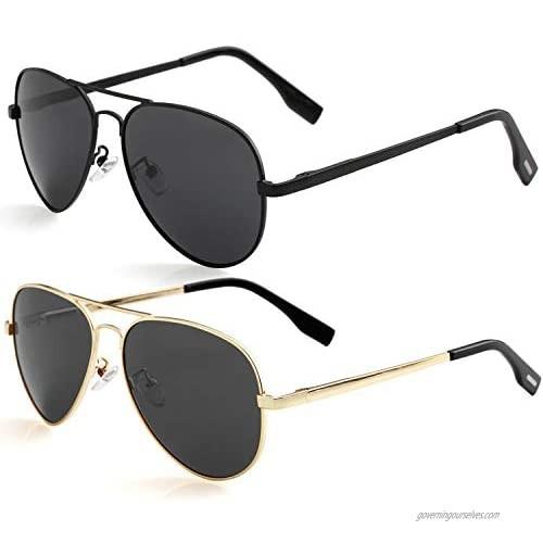 Polarized Aviator Sunglasses for Small Face Women Men  100% UV400 Protection  52MM
