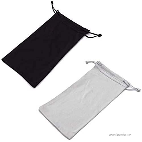 Microfiber Eyeglass Pouch  4 Pcs Drawstring Jewelry Smartphones Storage Bag(Black  Grey)