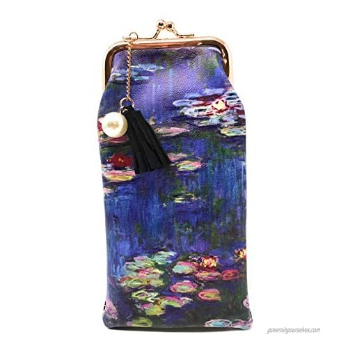 Value Arts Monet Water Lilies Eyeglass Case Pouch  7 Inches Long