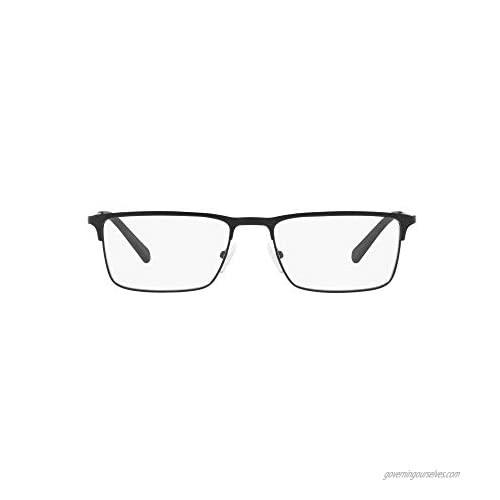 AX Armani Exchange Men's Ax1035 Metal Rectangular Prescription Eyeglass Frames
