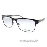 Burberry BE 1289 1212 Brushed Brown Metal Rectangle Eyeglasses 55mm
