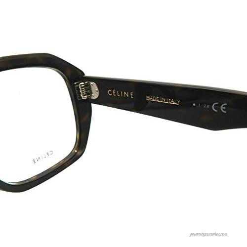 Celine CL50017I - 052 ACETATE Eyeglass Frame Dark Tortoise 51mm