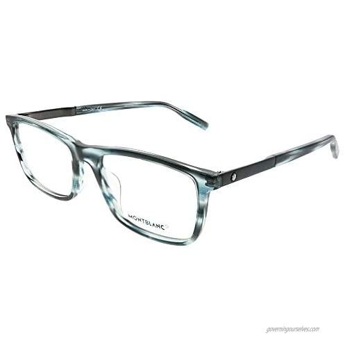 Eyeglasses Montblanc MB 0021 O- 004 Blue/Ruthenium