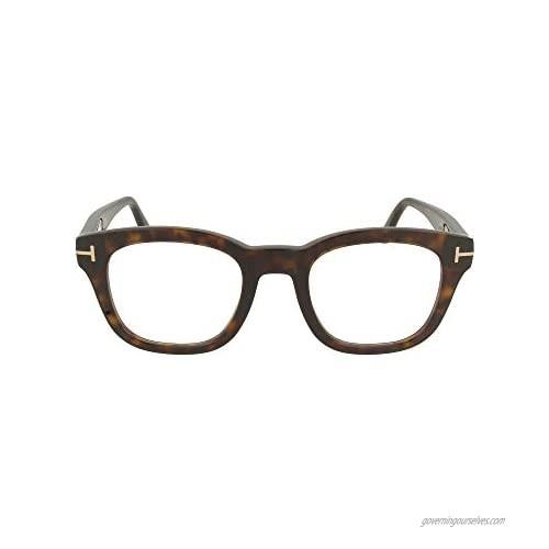"""Eyeglasses Tom Ford FT 5542 -B 052 Shiny Dark Havana  Rose Gold""""t"""" Logo/Blue  Multicolour  50/22/145"""