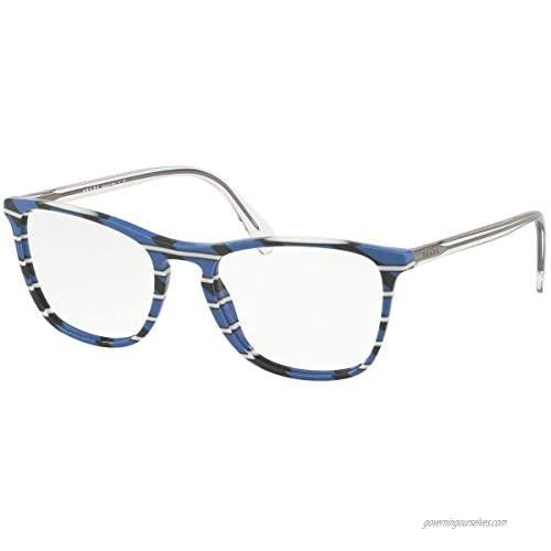 Prada Conceptual PR08VV - 3191O1 Eyeglasses Striped Grey Blue Frame w/Demo Lens 55mm