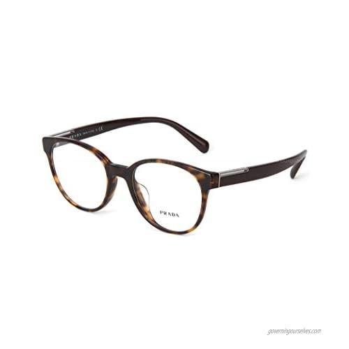Prada PR10UVF - 2AU101 Eyeglasses Havana Frame w/ Demo Lens 54mm