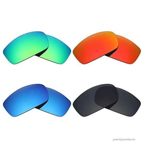 Mryok 4 Pair Polarized Replacement Lenses for Costa Del Mar Caballito Sunglass - Stealth Black/Fire Red/Ice Blue/Emerald Green