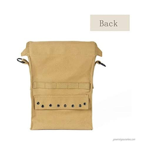 OLEADER WW2 US Army WW2 Medic Bag Military First Aid Carry Pack Pouch Khaki