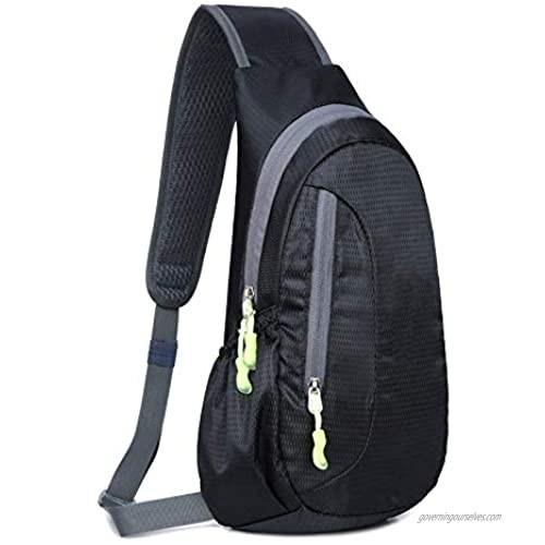 Sling Chest Bag Small Mini Cross Body Shoulder Backpacks with Adjustable Belt for Men Women Outdoors Travel Phone