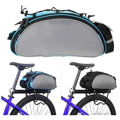 SOTTYH Bicycle Seat Rear Bag Waterproof Bike Storage Pannier Rack Pack Shoulder Cycling Bag Seat Carrier