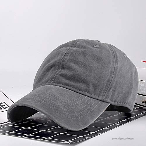 Beorchid 3Pcs Washed Distressed Twill Baseball Cap Adjustable Buckle Dad Hat for Women Men