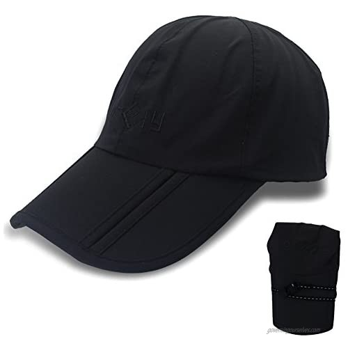 Gracelife Waterproof Baseball Cap Foldable Sun Hat Unisex Man Woman Peaked Outdoor Quick-Drying Collapsible Portable Hat