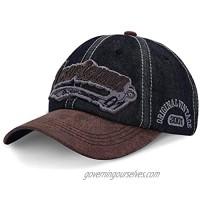 LIVACASA Baseball Cap Hats for Men Women Ponytail Pigment Dyed Cotton Dad Cap for Girls Boys Low Profile Classical