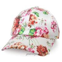 Trendy Apparel Shop Women's Floral Print Satin Unstructured Low Profile Baseball Cap