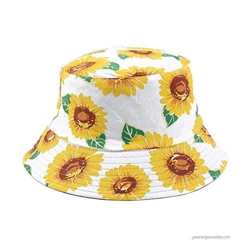 Bucket Hats Double Sided Wear Foldable for Unisex Travel Beach Sun Hat