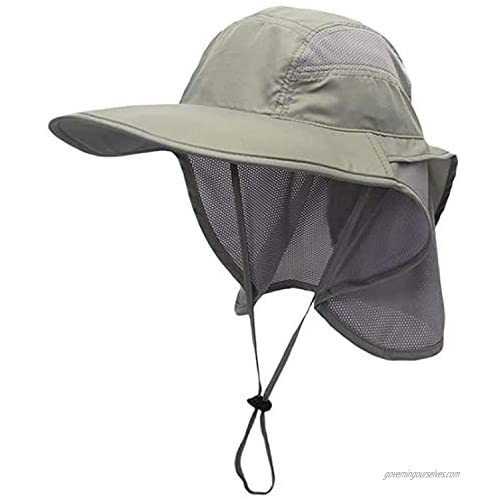 Fishing Hat Beach Cap with Sun UV Protection  UPF 50+ Wide Brim Breathable with Neck Flap Bucket Hats for Men and Women