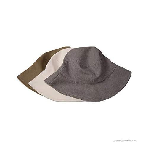 POPKIT 100% Cotton Summer Bucket hat  Packable Blublu Fashion Women's and Men's Sun uv Protection Outdoor Activities