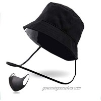 Transparent Cover Fisherman's hat  Blocking The Droplets  preventing Saliva  Wind and Sand Blowing into The Eyes  Blocking The Sun  Transparent Eye Protection  Unisex