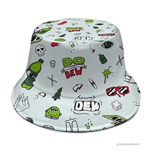 Travel Printing Sunshade Bucket Hat One Size Loose Daily Big Brimmed Cap Gift