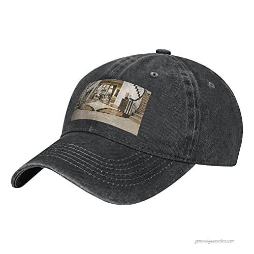 NOTZERO Luxury Palace Adult Casual Cowboy HAT  Mens Adjustable Baseball Cap  Hats for MENLuxury Palace Black