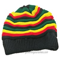 Colored Striped Long Style Hip-hop Hairy Knitted Hat-The Jamaican Reggae Hat