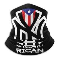 Puerto Rico Flags Rican Bandanas Neck Gaiter Headwrap Head Scarf New York Skiing Face Mask Balaclava Black