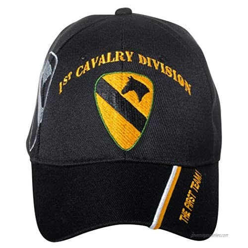 Artisan Owl United States Army 1st Cavalry Division Embroidered Adjustable Black Baseball Cap