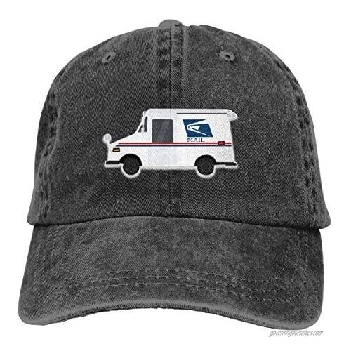 Men's Baseball Cap Mailman Mail Trucker Vintage Distressed Unconstructed Hat