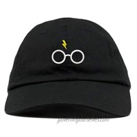 TOP LEVEL APPAREL Harry Glasses Embroidered Soft Cotton Adjustable Cap Dad Hat