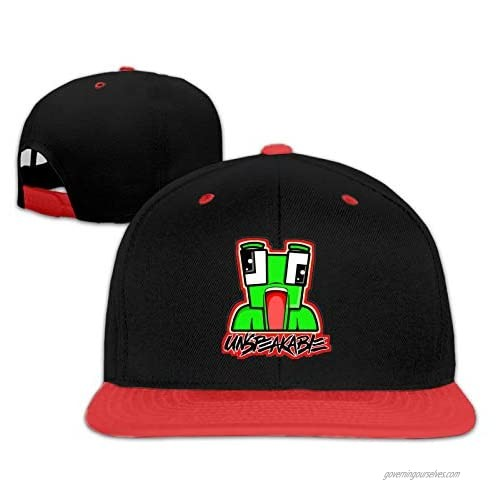 Un-Speak-Able Adjustable Funny Trucker Cap Cool Hip Hop Baseball Cap for Boys and Girls Red