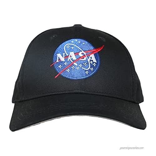 XANX SMON NASA Baseball Daddy Hat Blue Line Embroidered Space Patch Cap