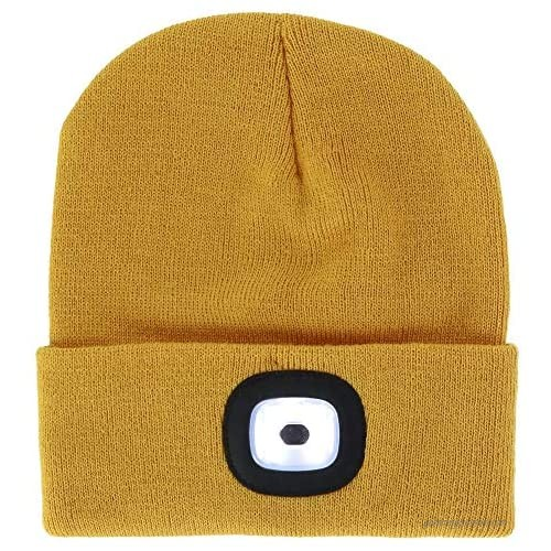 DM Merchandising Inc. Night Scout Rechargeable Led Beanie (Mustard)