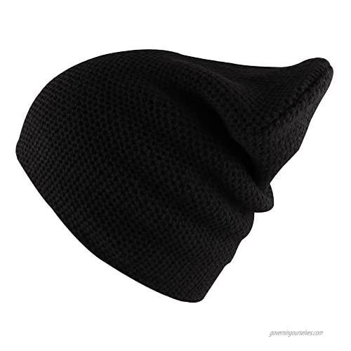 Morehats Waffle Knit Soft Beanie Warm Winter Ski Skater Hip-hop Hat
