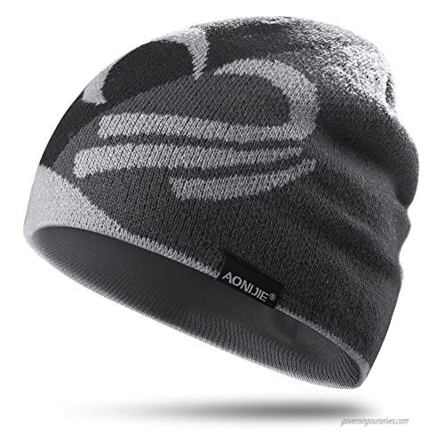 Winter Knit Beanie Sports Hat Warm Outdoors Cap Hiking Bicycling Running Cycling
