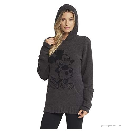 Barefoot Dreams CozyChic Classic Disney Mickey Mouse Adult Hoodie  Hooded Sweatshirt for Men and Women