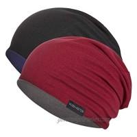Fleece Beanie Skull Cap for Men/Women Double Layer  Reversible Warm Slouchy Winter Hats