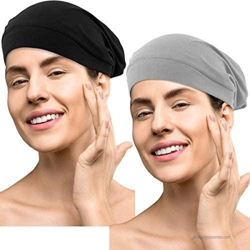 GABraden Sleep Cap for Women Satin Silk Lined Slouchy Cap Beanie Slap Hat for Frizzy Hair Women