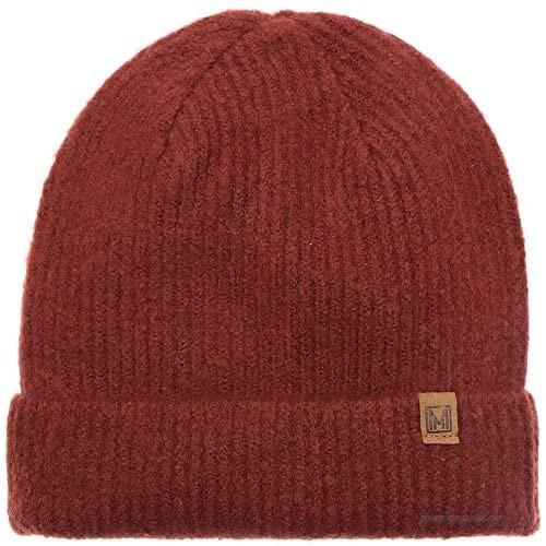 MIRMARU Winter Ribbed Knit Beanie- Outdoor Plain Soft Warm Stretchy Cuff Fold Up Beanie Hat for Men & Women