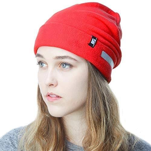 The Hat Depot Fleece Winter Functional Beanie Hat Cold Weather-Reflective Safety for Everyone Performance Stretch