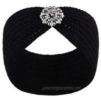 VIJIV Extra Wide Knit Turban Headbands Head Wraps Scarf for Womens Girls  Ladies Stylish Headwear Flapper Cap Hat Headcover