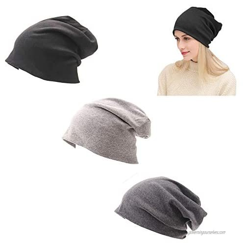 XYX Trendy Chunky Winter Hat Stretchy Soft Winter Beanie Knit Hats Skull Cap Warm for Men and Women