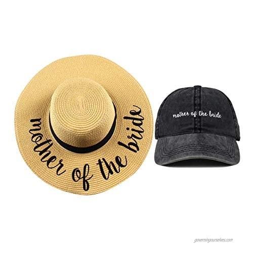 Funky Junque Women's Bridal Sun Hat Dad Hat Baseball Cap Bachelorette Party Bundle